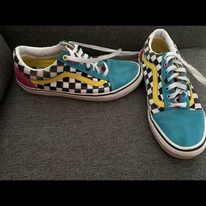 Awesome Colorful Vans! Great condition!